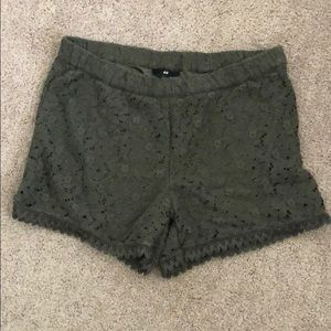 Double Layered  Forest 🌳 Green H&M Shorts